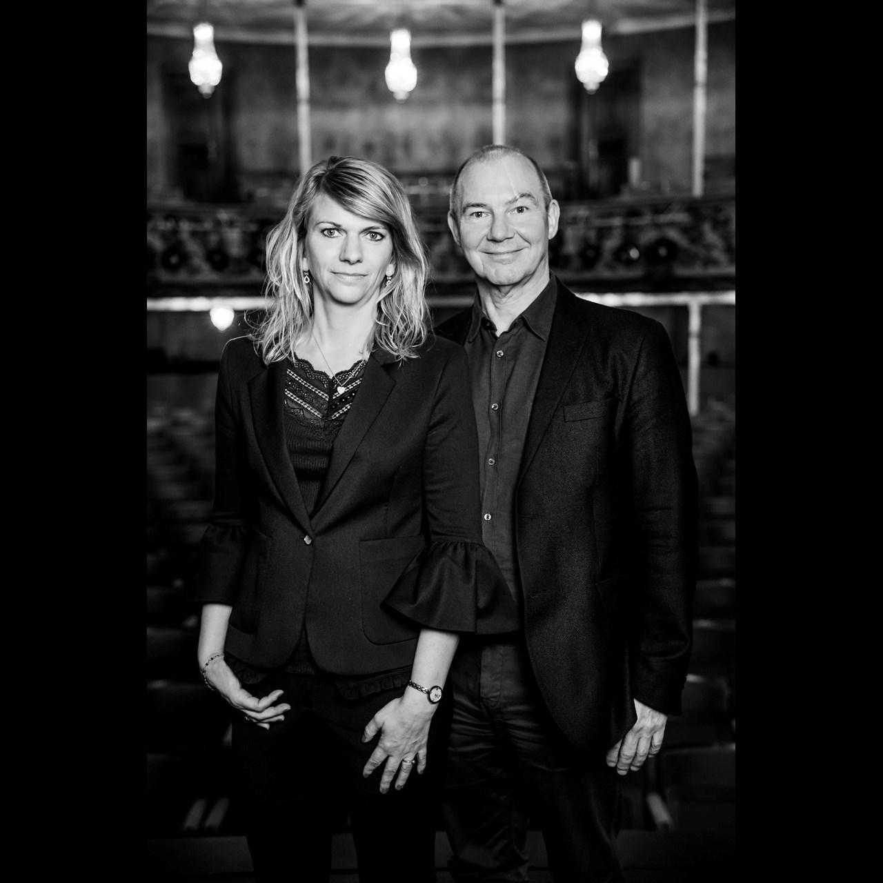Direktør Allan Aagaard og Teaterdirektør Trine Holm Thomsen  Foto Isak Hoffmeyer